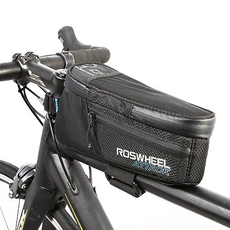 2594ef7e8eb Odsport 100% Waterproof Bike Frame Bag, Adjustable Fix Bands Tube Top  Bicycle Bags Fit
