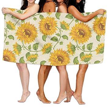 Girasol patrón Super suave toallas de baño de bebé Toallitas de viaje toalla de playa de agua de alta absorción: Amazon.es: Hogar
