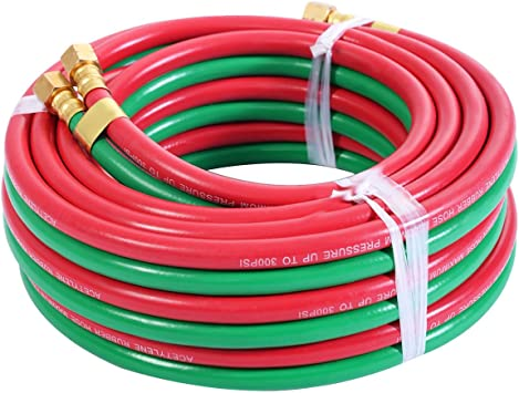 """Portable Twin Welding Torch Hose Oxygen Acetylene Oxy 25/' 1//4/"""" for Cutting New"""