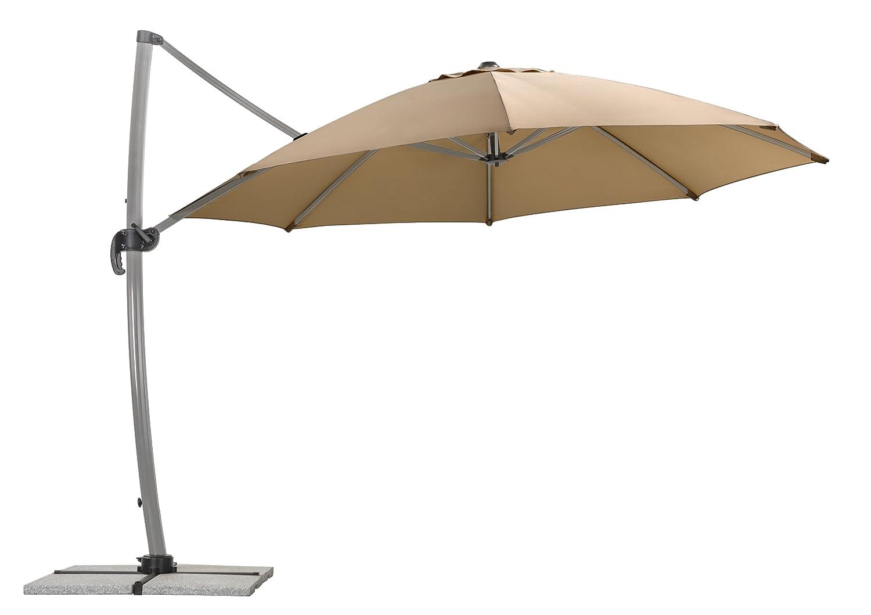 schneider sonnenschirm rhodos rondo sand ca 350 cm 8 teilig rund online kaufen. Black Bedroom Furniture Sets. Home Design Ideas