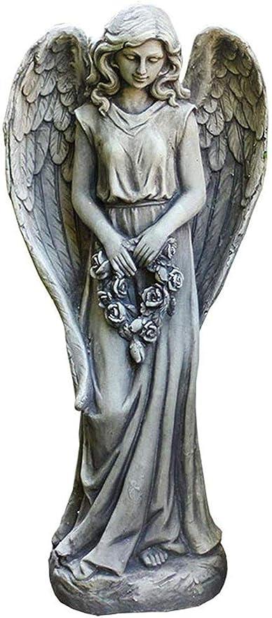COCECOCE Decorativas Estatuas Adornos Estatuas Esculturas Ángel Escultura Jardín Adorno De Jardín Decoración De Jardín Accesorios Decoración De Entrada De Jardín: Amazon.es: Hogar