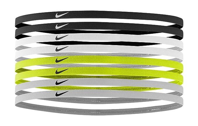 Amazon.com   Nike Women s Skinny Headbands 8 Pack Black White Size ... a35c1fe739e