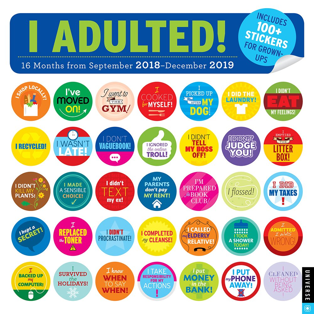 i-adulted-2018-2019-16-month-wall-calendar-stickers-for-grown-ups