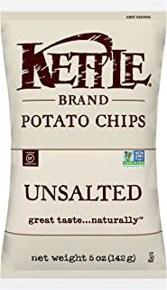 product image for Kettle Brand Potato Chips, Unsalted, 5 Ounce Bags (Pack of 15)
