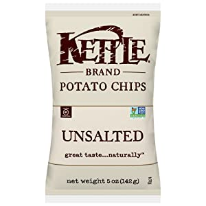 Kettle Brand Potato Chips, Unsalted, 5 Ounce Bag