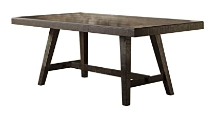 Homelegance Fenwick 76quot Dining Table Hand Scraped Wood Grain Rustic Accent