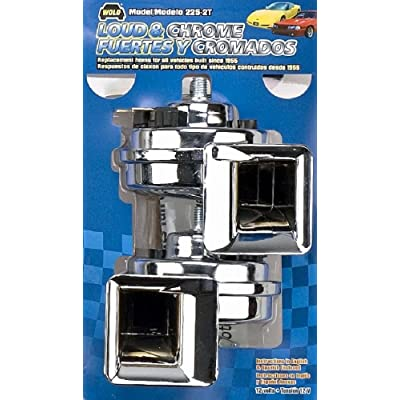 Wolo (225-2T) Loud and Chrome Horn Set - 12 Volt, Low and High Tone: Automotive