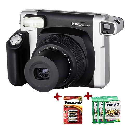 Allcam Bundle Fujfilm Instax 300 Wide Instant Camera +100-Shot Fuji Wide Film + Panasonic Gold Batteries