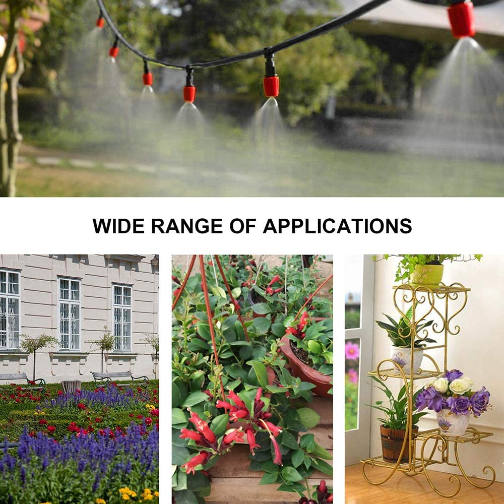 KKmoon Plant Watering Irrigation Drip Kit Accessories Include Atomizing Nozzle Mister Dripper