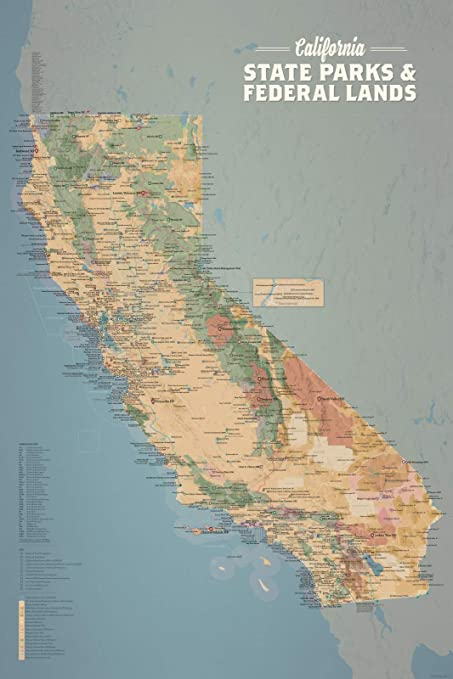 California Parks Map on