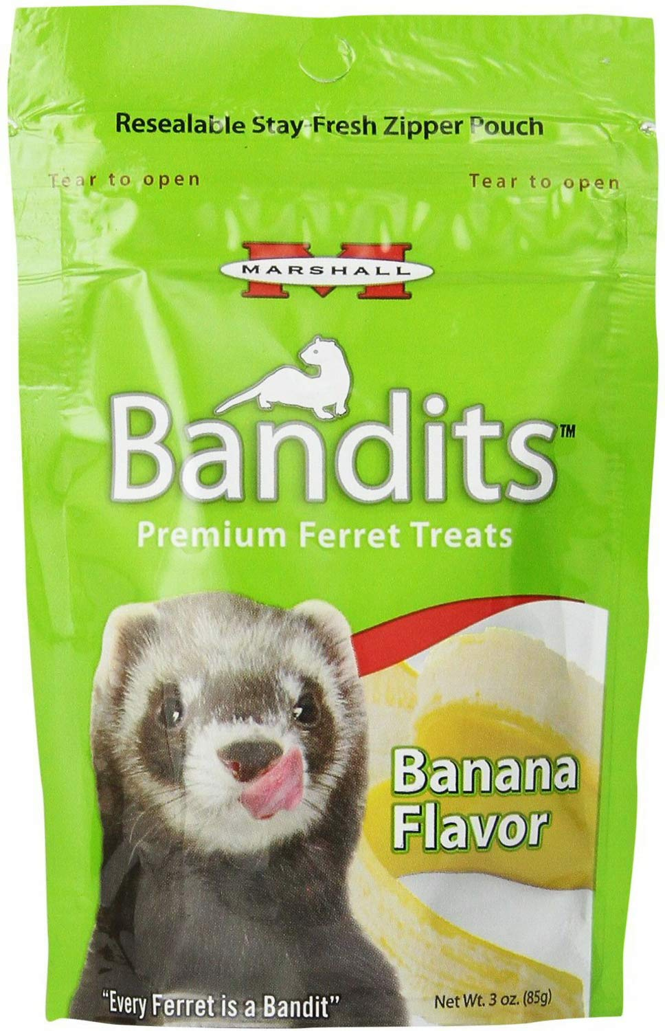 Marshall Ferret Treats, Banana, Bandits, 3 Ounce, 40 Pack by Marshall