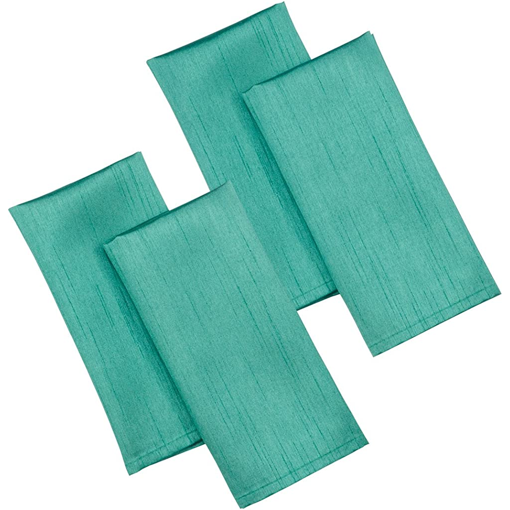 Casual-Dining-17-x-17-inch-Faux-Silk-Napkins-Pack-of-4-Teal-0