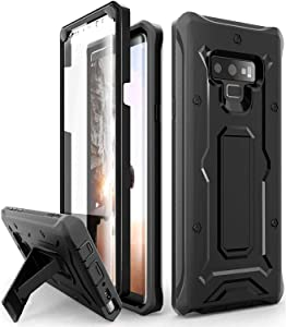 ArmadilloTek Vanguard Designed for Samsung Galaxy Note 9 Case (2018 Release) Military Grade Full-Body Rugged with Built-in Screen Protector & Kickstand (Black)