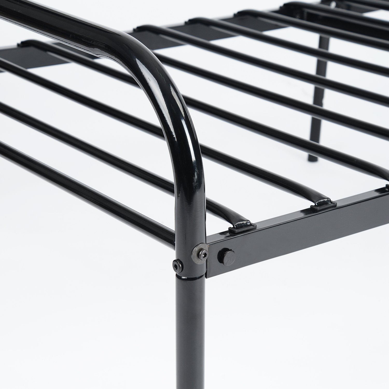 Aingoo Bettgestell 90x200 Metallbett Bettrahmen mit Lattenrost für für für Erwachsene Jugend Kinder ;Dieses Metall Bett passt ideal auf Matratze 90 x 190(Schwarz) 10357a