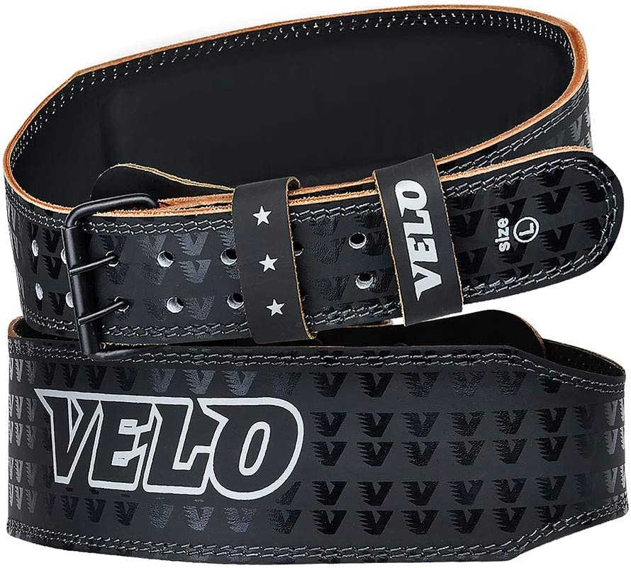 VELO Cintur/ón de Levantamiento de Pesas de 4 cm de Piel para Entrenamiento de Fitness Dolor Gimnasio