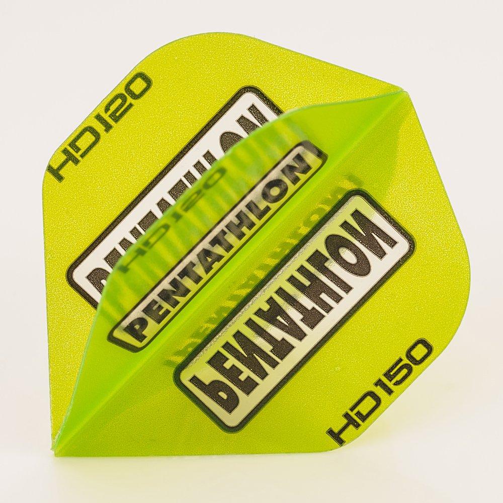5 x Sets of Pentathlon Green Super Tough HD150 Dart Flights, Standard by PerfectDarts