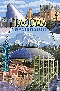product image for Tacoma, Washington - Montage Scenes 47109 (24x36 Signed Print Master Art Print - Wall Decor Poster)
