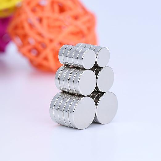 Imanes, MBIGM 30 pcs fuerte cilindro nevera imanes de neodimio de fotos Officemate mejor para DIY proyectos de arte y manualidades, escuela aula ciencia ...