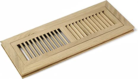 Amazon Com 4 X 14 Inch White Oak Wood Flush Mount Floor Register Vent Cover Grille Unfinished By Welland Fits 3 4 Flooring Home Improvement