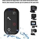 COOSA WiFi Waterproof Smart Remote Control with Charing Cable and Wrist Strap for Gopro Hero+ LCD, GoPro Hero5 Session, Hero4 Silver, Hero4 Black, Hero3+, Hero Session (Black)