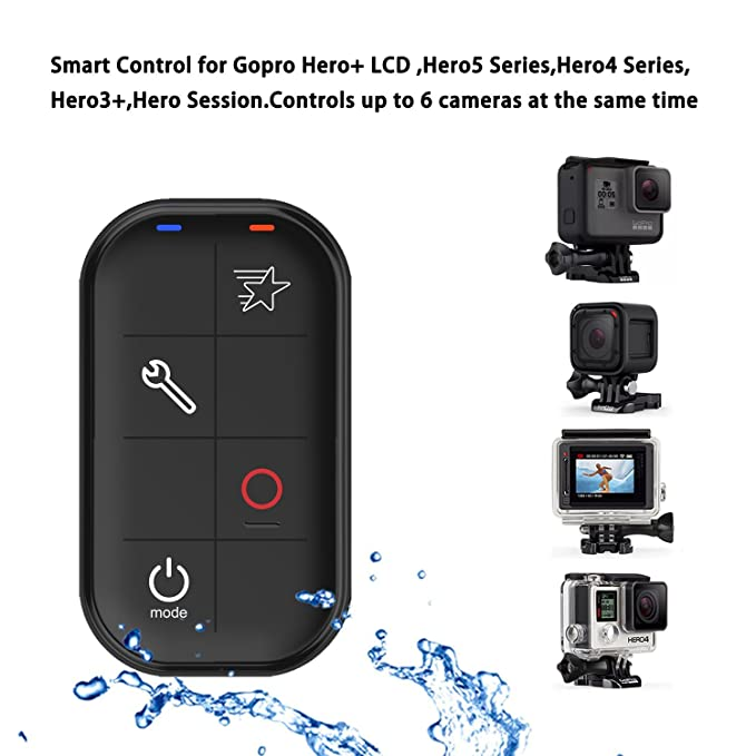 COOSA Wifi Impermeable Control Remoto Inteligente para Gopro Hero+LCD , Hero 5 Series, Hero 4 Series, Hero 3+, Hero Session. Control a 6 Cámaras al mismo ...