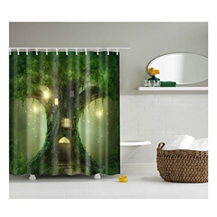 A Magic Cabin In The Woods Bathroom Decor Collection Fabric Shower Curtain Mildew Resistant Waterproof Standard
