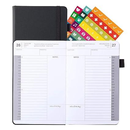2019 Planificador diario/libro de citas, 5 x 8 pulgadas, 24 ...