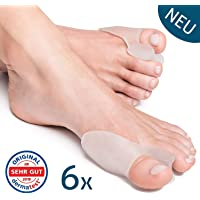Transparent Bunion Correctors Toe Straightener (6 Pieces) Hallux Valgus by YogaMedic - Soft, Comfortable and Long Life - Satisfaction Guarantee - BPA Free