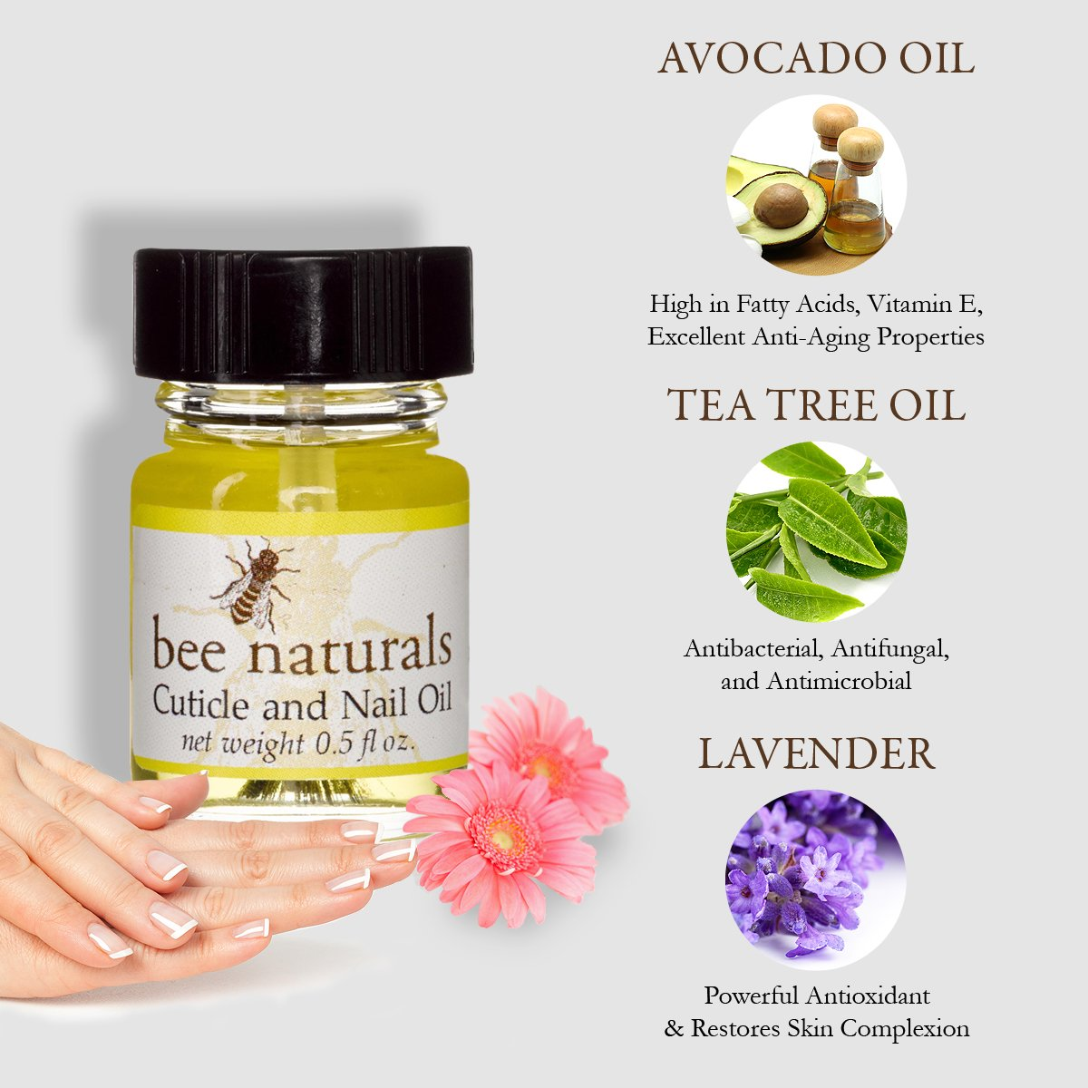 Amazon.com: Bee Natural Best Cuticle Oil - Nail Oil Helps All ...