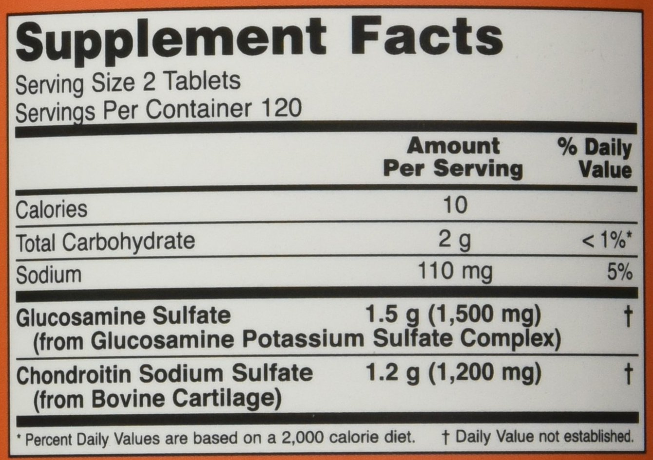 NOW Glucosamine Chondroitin Strength Tablets Image 2