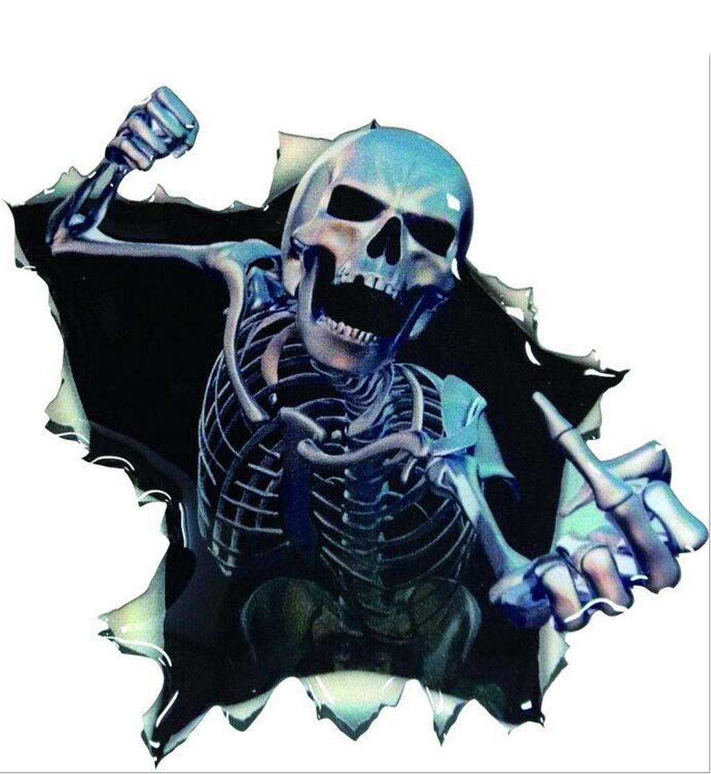 QJONKE 8 Stück druckempfindliche Kleber Kleber Aufkleber Skelett ...