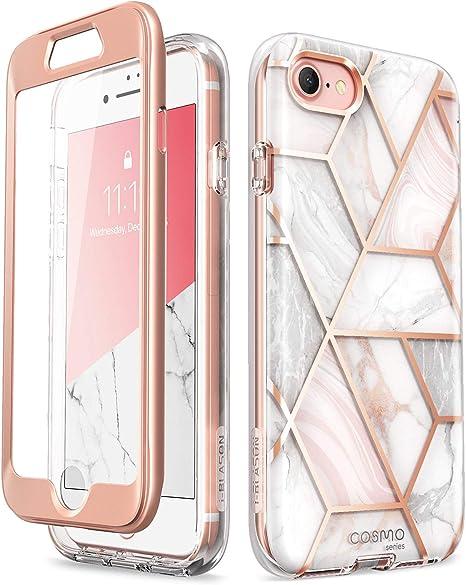 Amazon Com I Blason Cosmo Series Designed For New Iphone Se 2020 Case Iphone 7 Case Iphone 8 Case Built In Screen Protector Stylish Protective Bumper Case For Iphone Se 2020 Iphone 8 Iphone 7 Marble