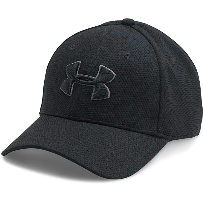 4dab51b8e79 Image not available for. Color: Under Armour Men's Printed Blitzing Stretch  Fit Cap, Black (005)/Black,