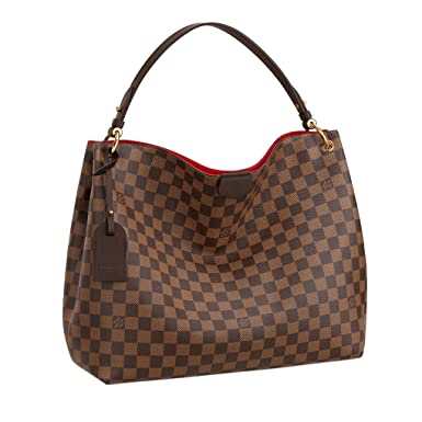 e19641a08a32 Amazon.com  Louis Vuitton Damier Ebene Graceful MM Tote Handbag  Article N44045  Clothing
