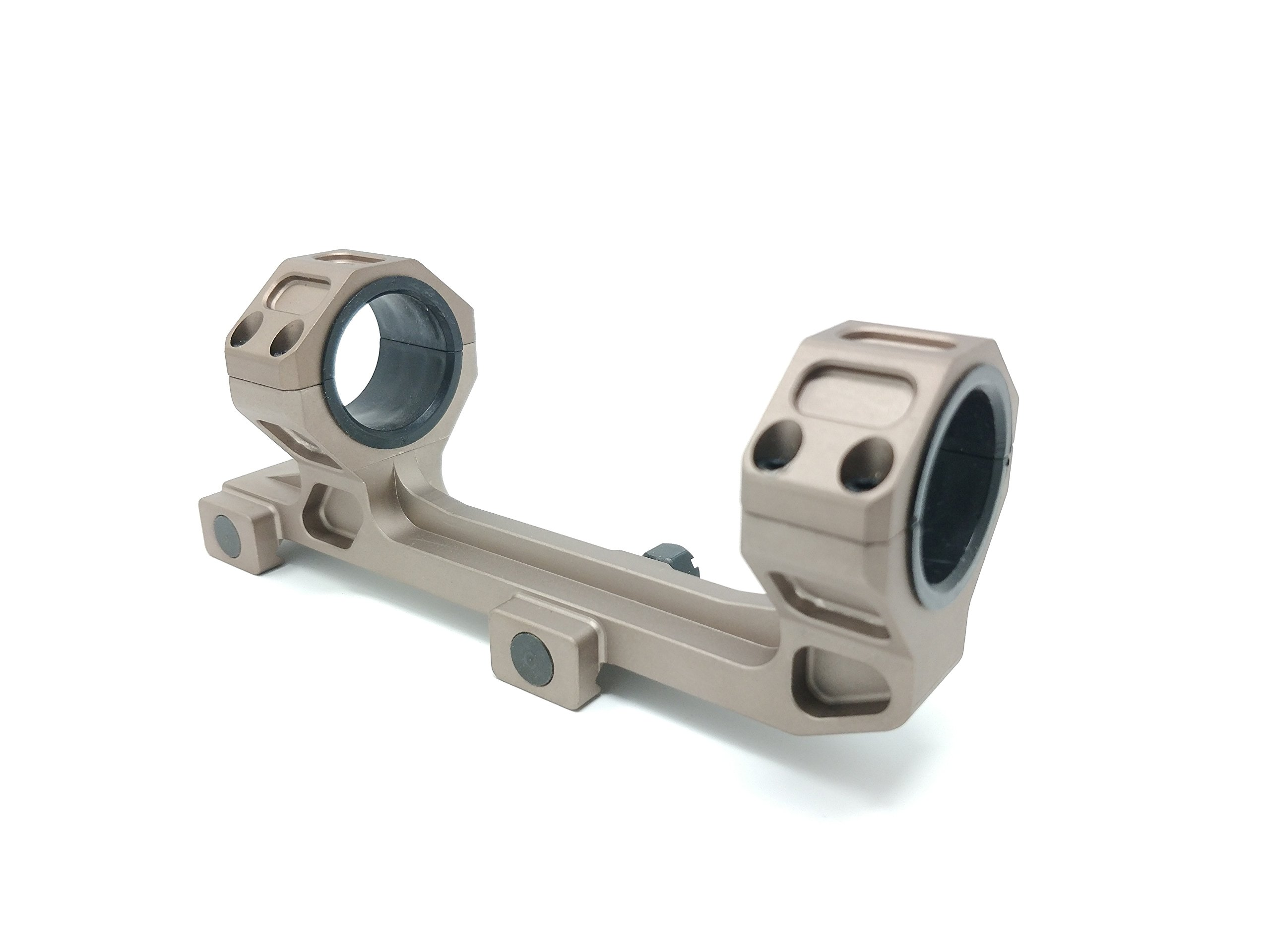 GE Bronze Rifle Scope Mount Rings 1'' / 30mm Cantilever for 20mm Picatinny Rail Optics 1 Inch Offset With Rear Level by GE Gold Rifle Scope Mount Rings 1'' / 30mm 2 Inch Offset With Level