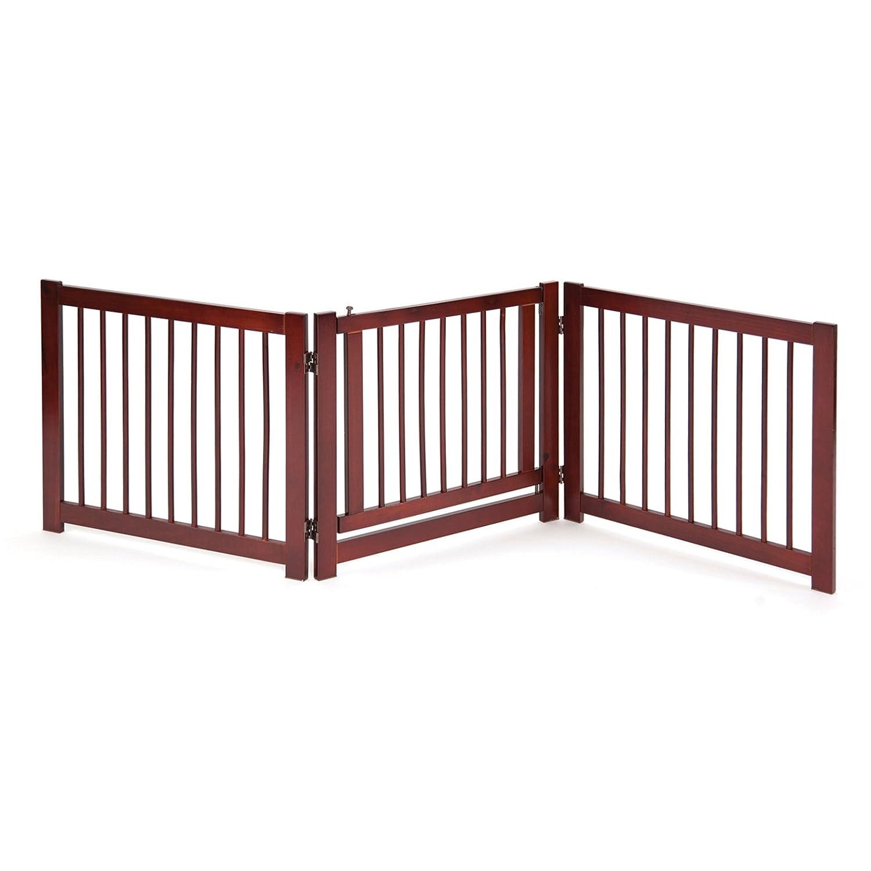 Primetime Petz 360 Configurable Dog Gate with Door – Indoor Freestanding Walk Through Wood Pet Gate 33232