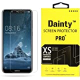 Dainty Tempered Glass Screen Guard Gorilla Protector for Nokia 5.1 Plus with Easy Installation Kit (Full Screen Coverage Except Edges - 11D Original Temper) (Transparent) (Pack of 1)