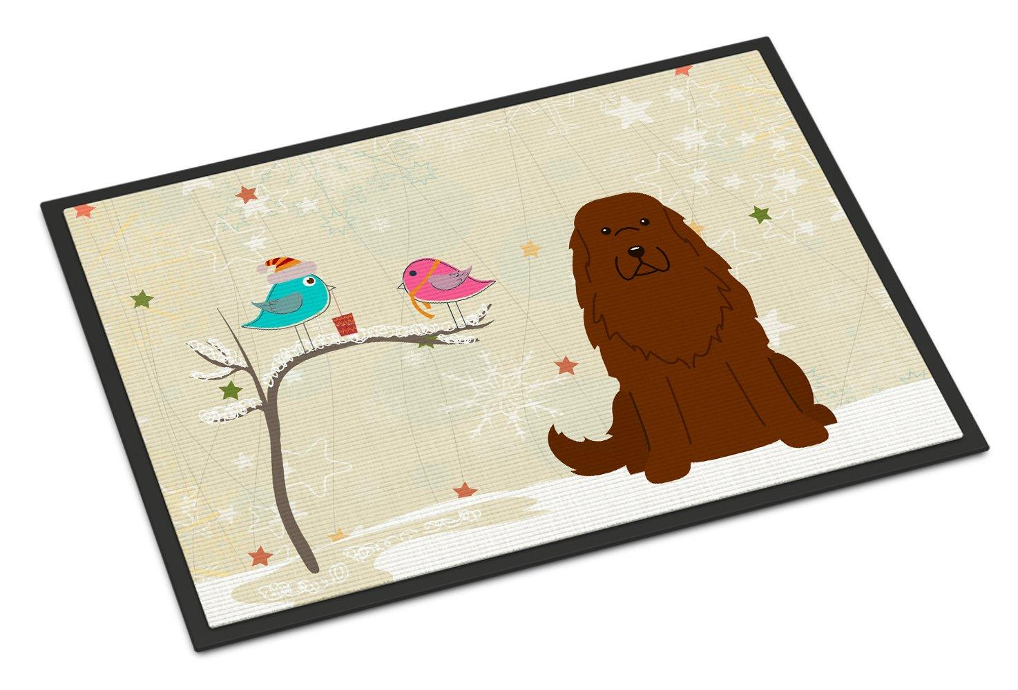 Carolines Treasures Christmas Presents between Friends Caucasian Shepherd Dog Indoor or Outdoor Mat 24x36 BB2522JMAT 24 x 36 Multicolor
