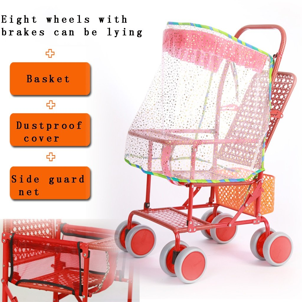 Baby carriage Carrito de bebé Imitación de Ratán Ligero ...