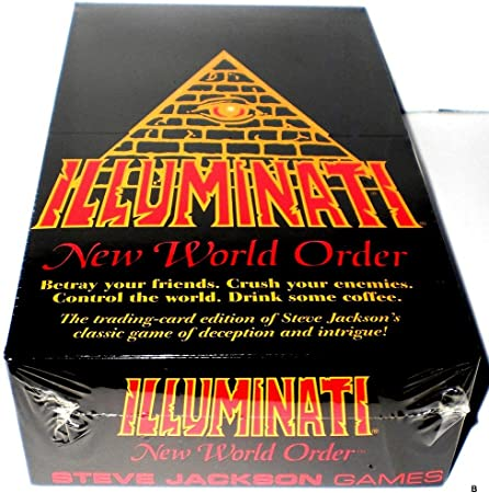 Illuminati 1995 New World Order Card Game Factory Sealed CCG Nib(INWO: Limited Edition Booster Pack POP)(540 Cards Total) by Steve Jackson( First Printing Original Version Extremely Rare 1994-1995)