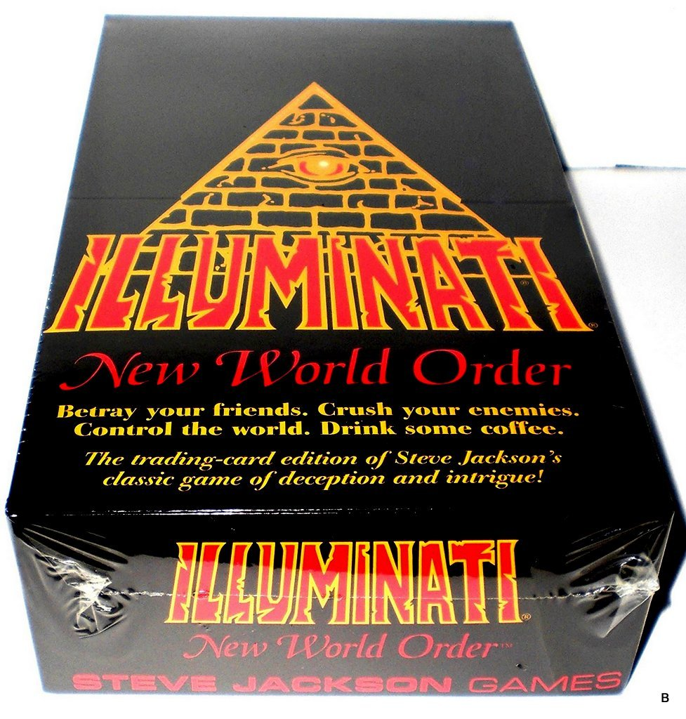 1995 ILLUMINATI NEW WORLD ORDER CARD GAME Factory SEALED CCG NIB(INWO: LIMITED EDITION Booster Pack POP)(540 cards total)By Steve Jackson( First Printing ORIGINAL VERSION Extremely Rare 1994-1995)
