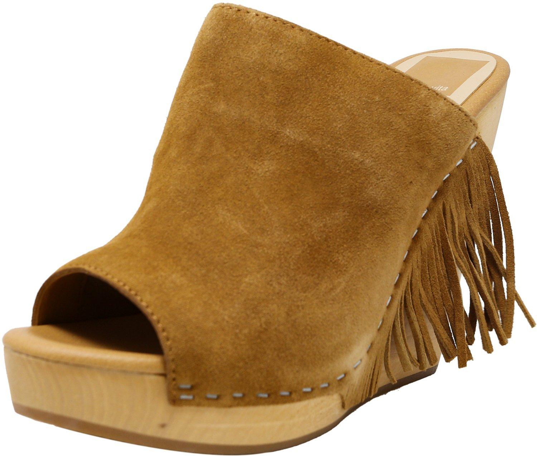 Dolce Vita Women's CAI Suede Wedged Sandal B07F6QWZ7S 7.5 B(M) US Camel