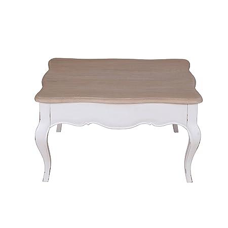 Couchtisch Weiß Holz Mit Schublade Massivholz Quadratisch Shabby