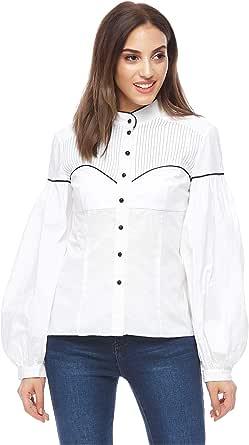 Valeria Sanoufi Shirt Neck Shirts For Women