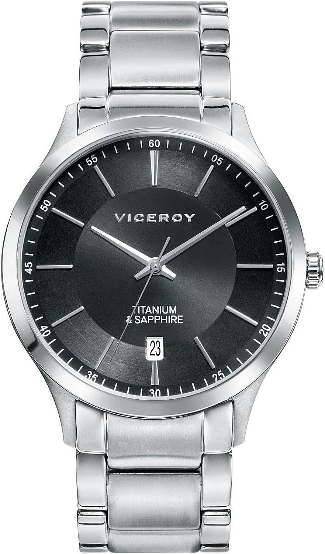 Viceroy Reloj Analogico para Hombre de Cuarzo con Correa en Acero Inoxidable 471125-57