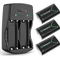 Smatree Batería de Controlador Xbox One, Batería Recargable 2000mAh NI-MH Cargador de Batería Dual para Xbox One/Xbox…