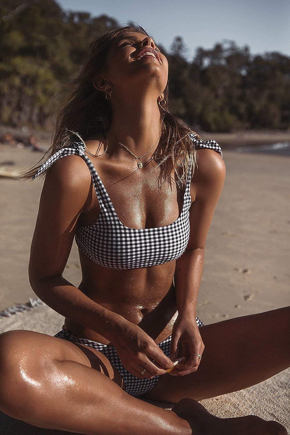 heekpek Mujer Conjunto De Bikini para Bandeau Bandeau Mujer Traje de ba/ño Brasile/ño Push-Up Traje De Ba/ño De Playa