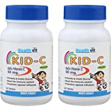 Healthvit Kid C Kid's Chewable Vitamin C - 60 Tablets (Pack of 2)