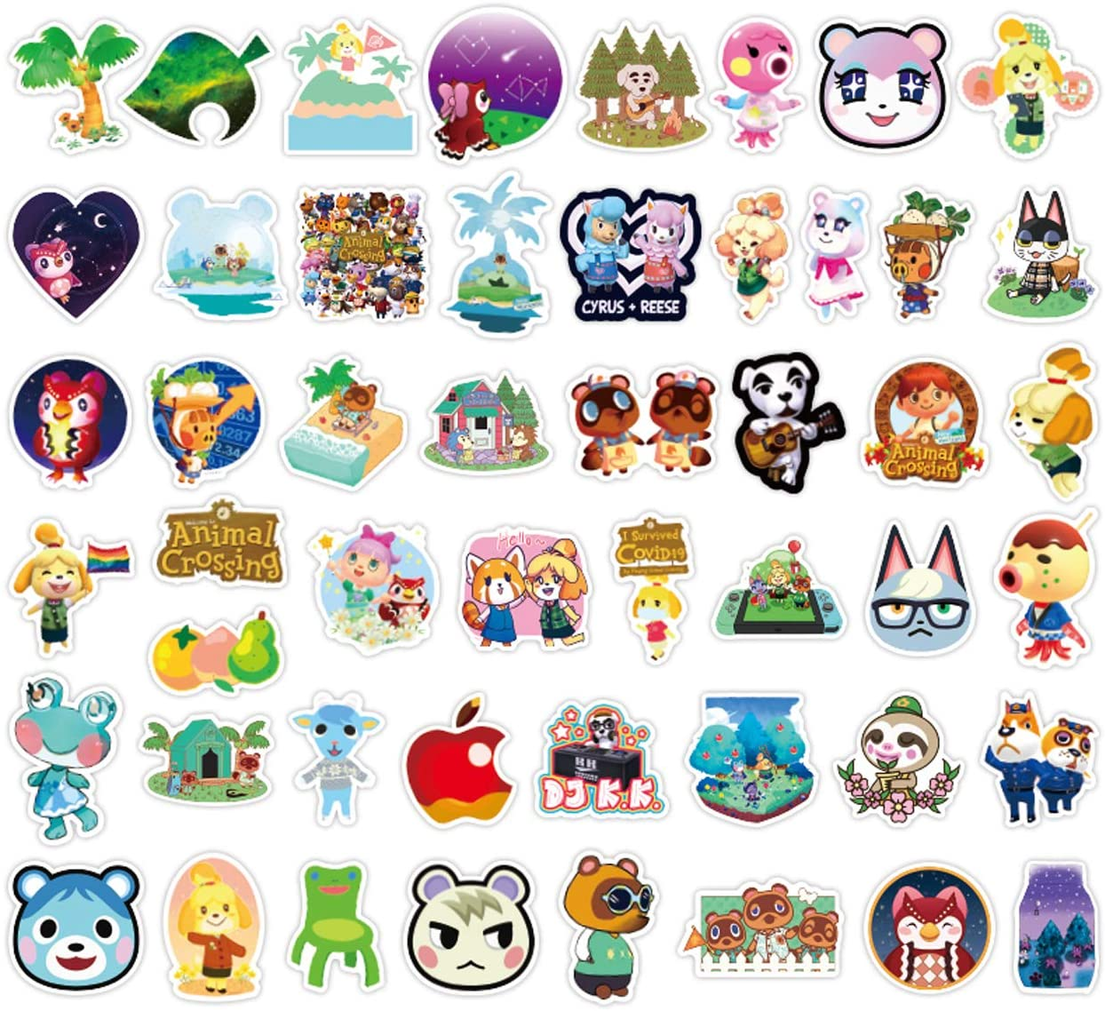 150pcs Animal Crossing Stickers Anime Gaming Stickers for Adults Teens Kids Waterproof Vinyl Stickers for Water Bottle Laptop Skateboard Snowboard Luggage Guitar Decor