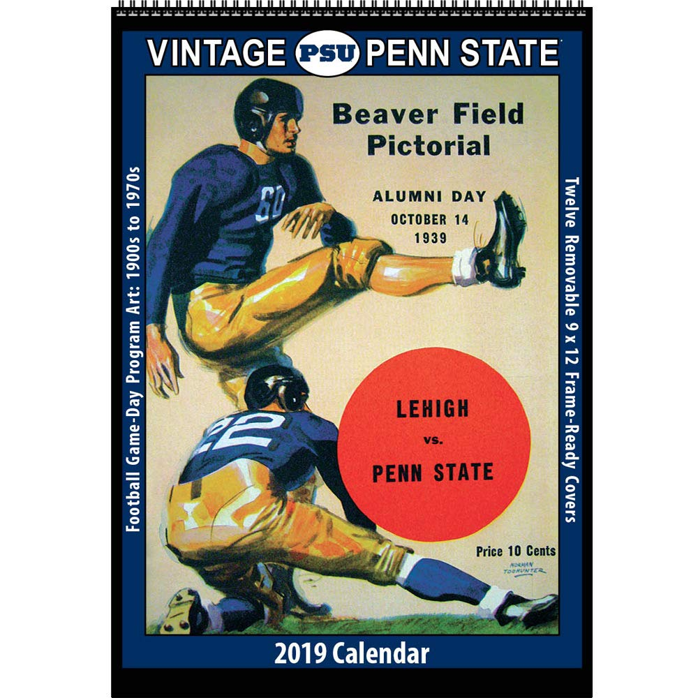 Psu 2019 Calendar Amazon.: Vintage Penn State Nittany Lions 2019 College